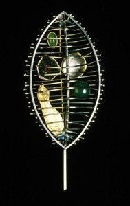 5.48 A Sense of Place - Kelvingrove Brooch 1997 Brooch; white metal, agate, tourmaline, quartz