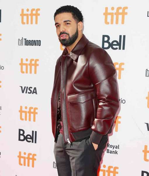 drake-bomber-leather-jacket
