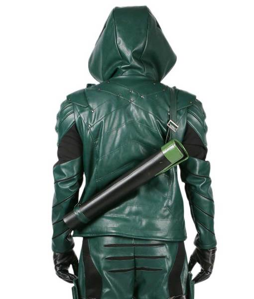 green-arrow-leather-jacket-with-hoodie
