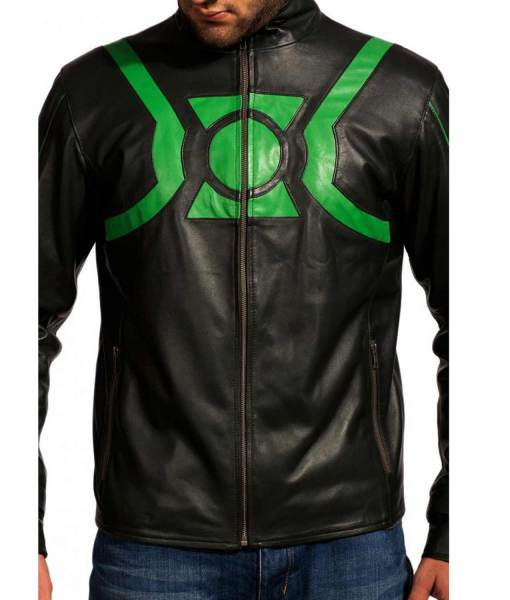 green-lantern-leather-jacket