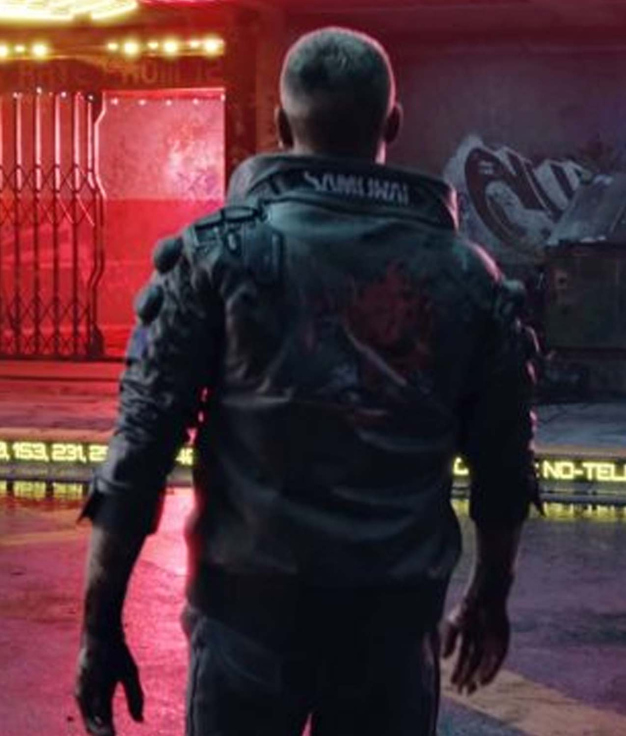 Bomber Leather Cyberpunk 2077 Jacket With Patch Jackets Creator