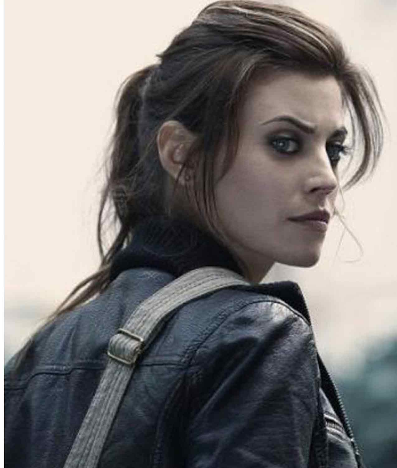 Meghan Ory Dead Rising Watchtower Crystal Leather Jacket Jackets Creator