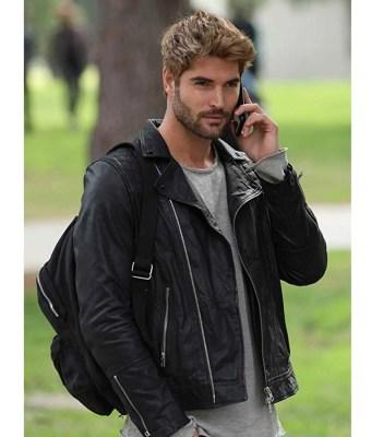 the-matchmakers-playbook-nick-bateman-black-leather-jacket