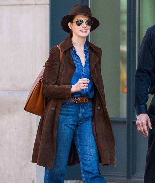 anne-hathaway-suede-brown-coat
