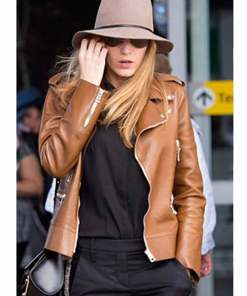 blake-lively-brown-leather-jacket