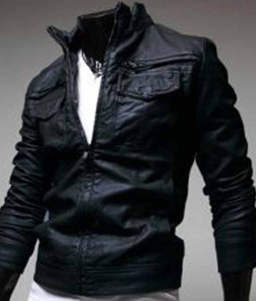 black-slim-fit-leather-jacket