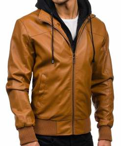 brown-leather-jacket-with-hoodie