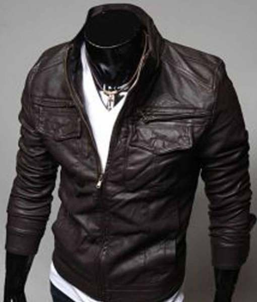 brown-slim-fit-leather-jacket