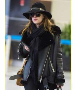 dakota-johnson-shearling-black-jacket