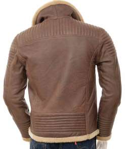 mens-sheepskin-shearling-brown-leather-jacket