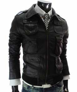 mens-slim-fit-black-faux-leather-jacket