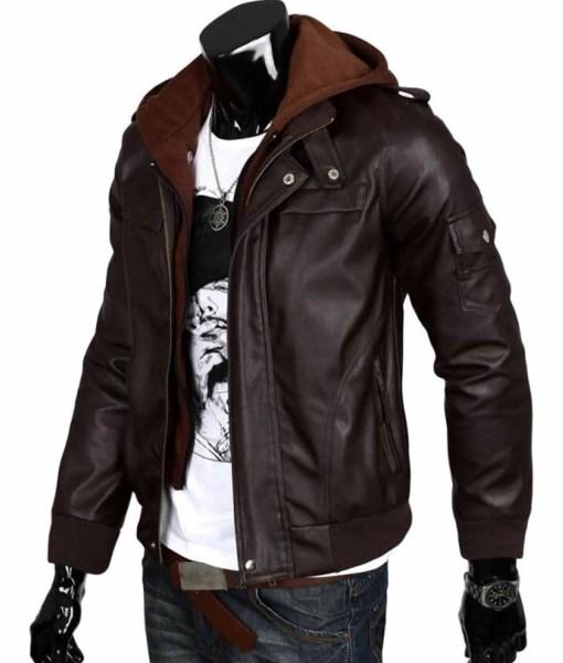 mens-slim-fit-chocolate-brown-leather-jacket-with-hoodie