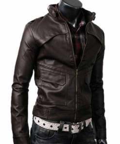 mens-slim-fit-dark-brown-leather-jacket