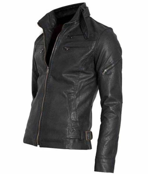 mens-snap-tab-collar-black-faux-leather-moto-jacket