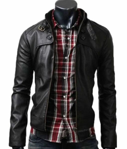 slim-fit-black-leather-jacket
