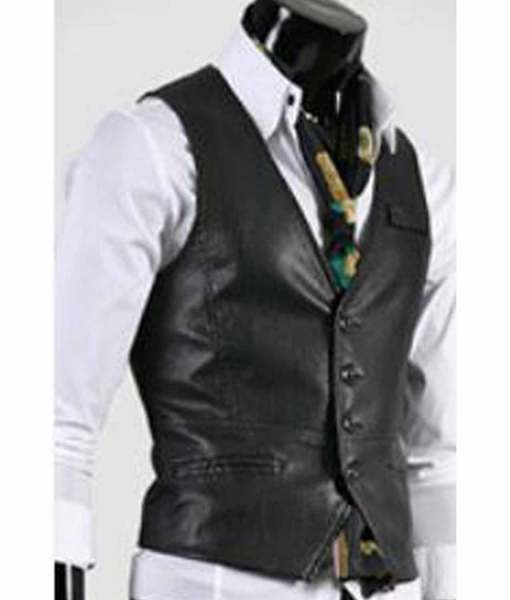 slim-fit-leather-vest