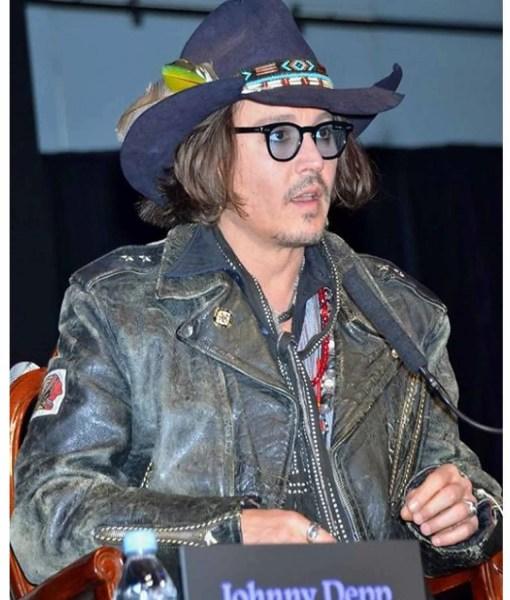 vintage-johnny-depp-black-leather-jacket