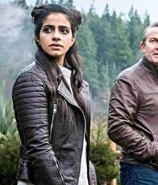 yasmin-khan-brown-leather-jacket
