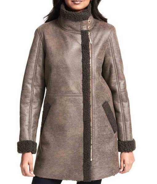 asymmetrical-womens-grey-leather-shearling-coat