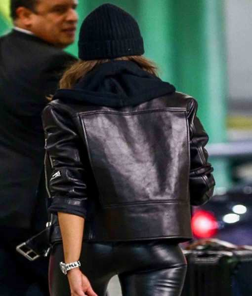miami-airport-olivia-culpo-belted-biker-jacket