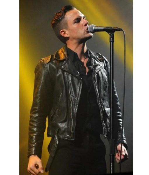 american-singer-brandon-flowers-black-leather-jacket