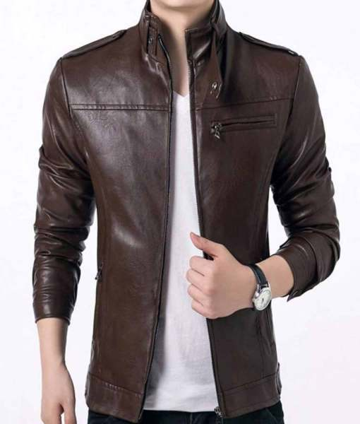 slim-fit-mens-brown-faux-leather-jacket