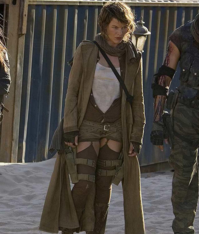Alice Coat Milla Jovovich Resident Evil Extinction Coat