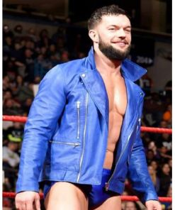 finn-balor-blue-leather-jacket