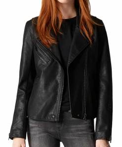 nora-west-allen-black-leather-jacket