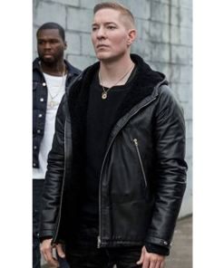 power-joseph-sikora-leather-hoodie