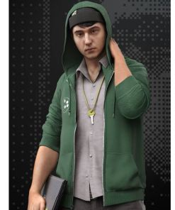 watch-dogs-2-josh-sauchak-green-hoodie