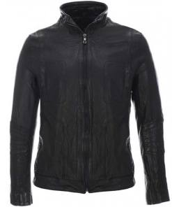 mens-high-neck-black-leather-jacket