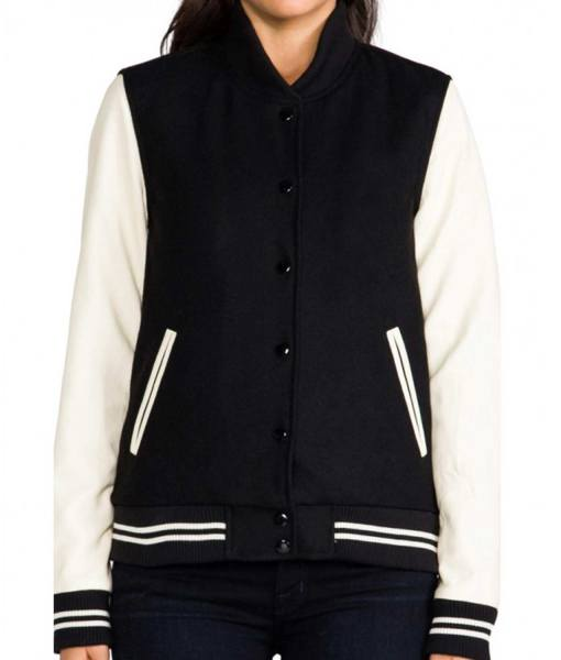 womens-bomber-cream-and-black-varsity-jacket