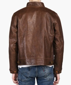albert-einstein-vintage-brown-leather-jacket