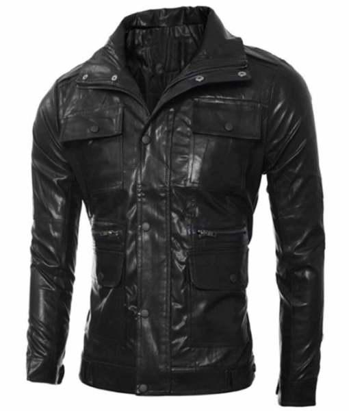 mens-multi-pocket-design-slim-fit-black-faux-leather-jacket