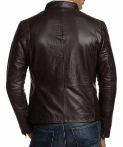 mens-simple-look-slim-fit-dark-brown-leather-jacket