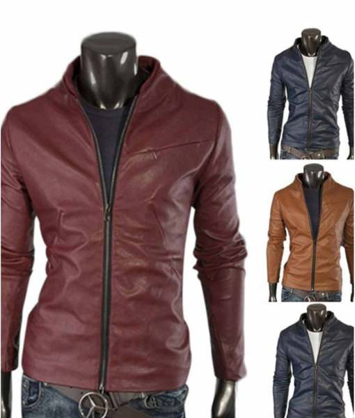 mens-simple-slim-fit-stand-collar-leather-jacket