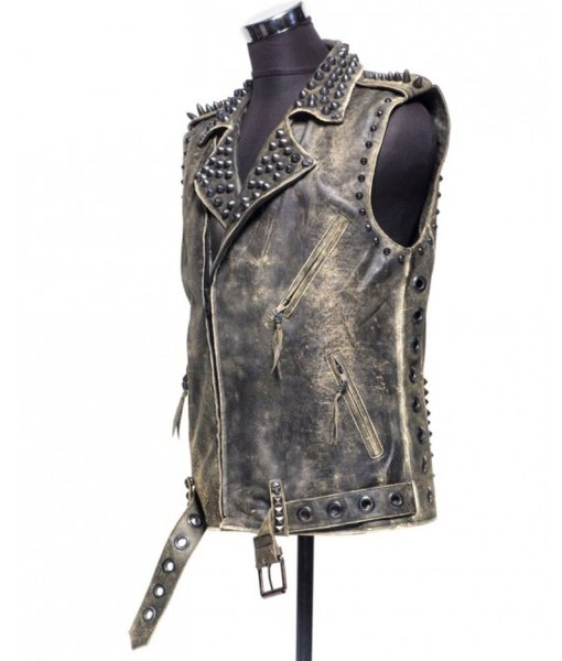 womens-biker-spiked-distressed-leather-vest