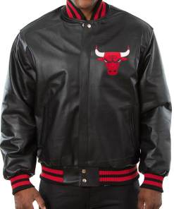 mens-new-chicago-bulls-leather-jacket
