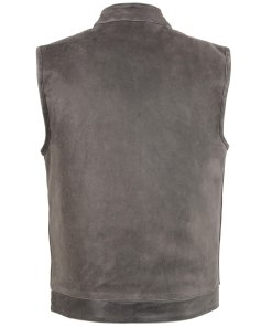 mens-distressed-leather-gray-motorcycle-vest