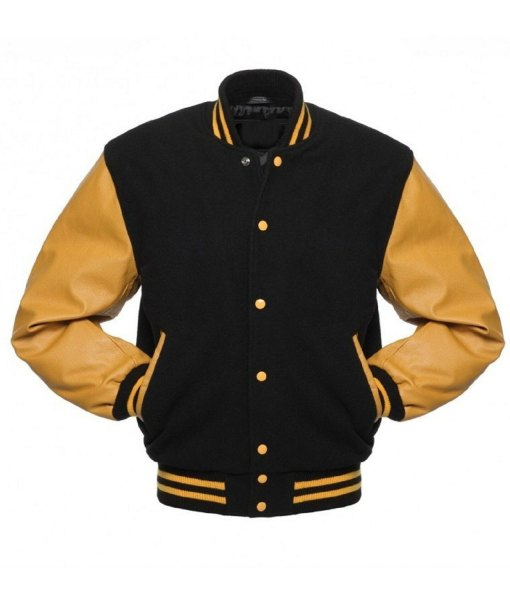 mens-college-black-and-yellow-bomber-jacket
