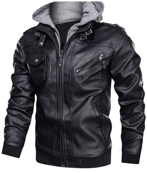 mens-bmens-bomber-black-leather-motorcycle-hoodie-jacketomber-black-leather-motorcycle-hoodie-jacket