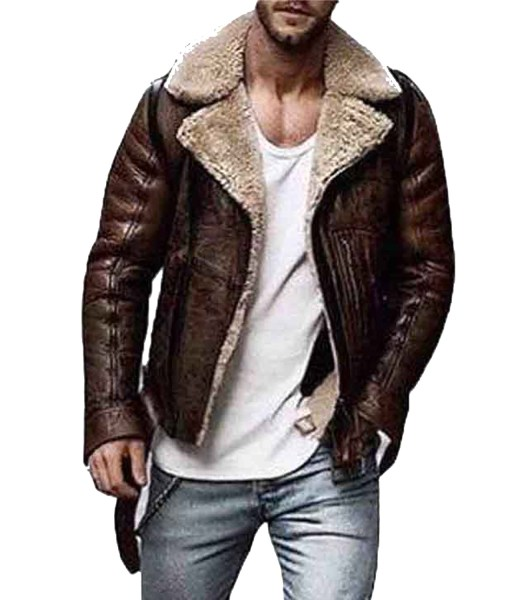 mens-brown-shearling-leather-jacket