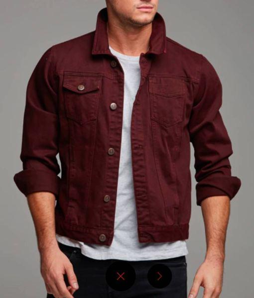 burgundy-denim-jacket