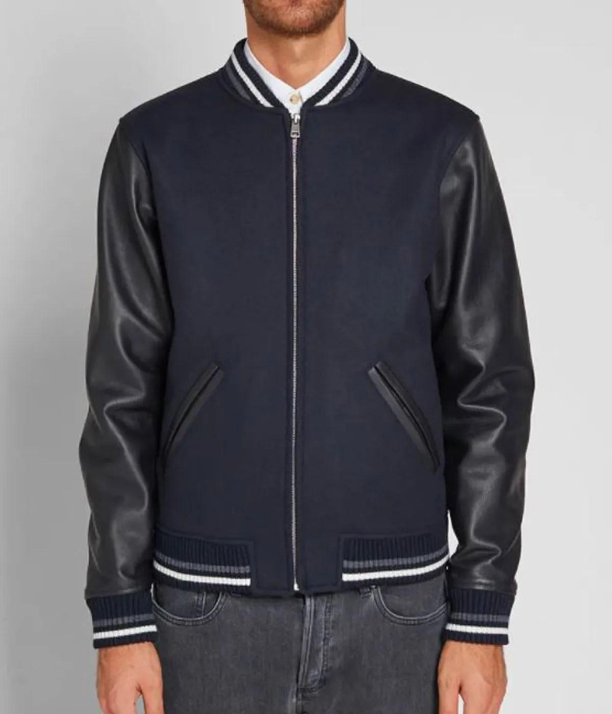 apc-copper-navy-blue-varsity-jacket