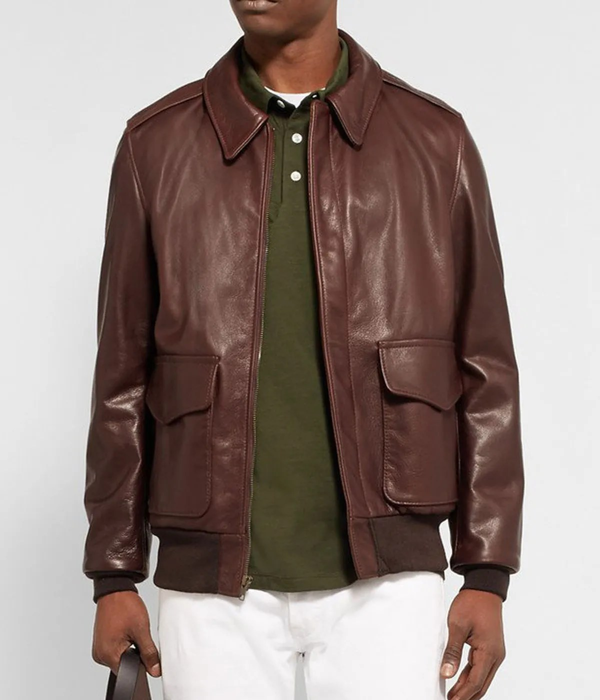 grain-adam-spencer-brown-leather-bomber-jacket