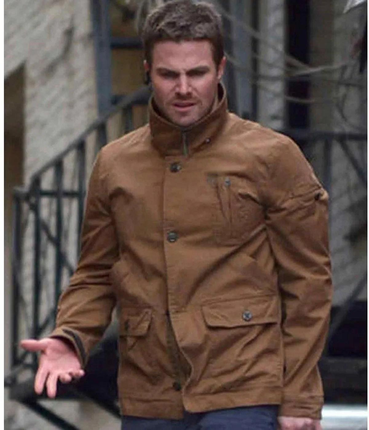 oliver-queen-brown-jacket