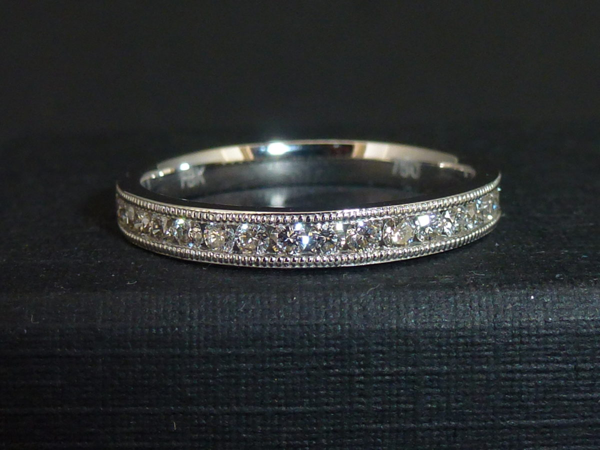 18ct White Gold Channel Set Half Eternity Ring