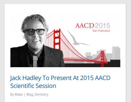 Jack Hadley Speaks at AACD