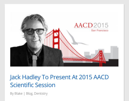 Jack Hadley Speaks at AACD
